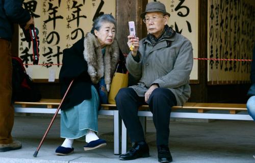 Dân số già tại Nhật Bản. Ảnh: Liveindex.