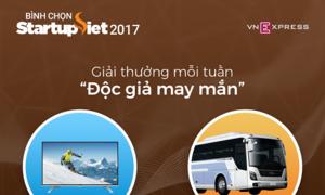 Độc giả nhận giải may mắn khi tham gia bình chọn Startup Việt 2017