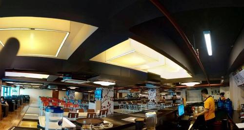 Một trong số không gian làm việc chung cho các startup ẩm thực do Beehub cung cấp.