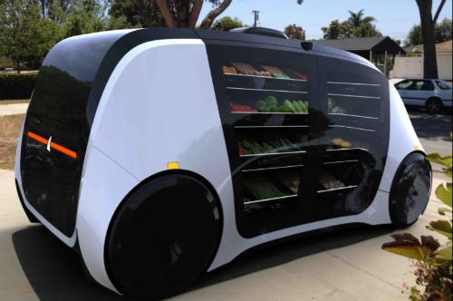 Startup Mỹ biến robot thành cửa hàng tạp hóa di động
