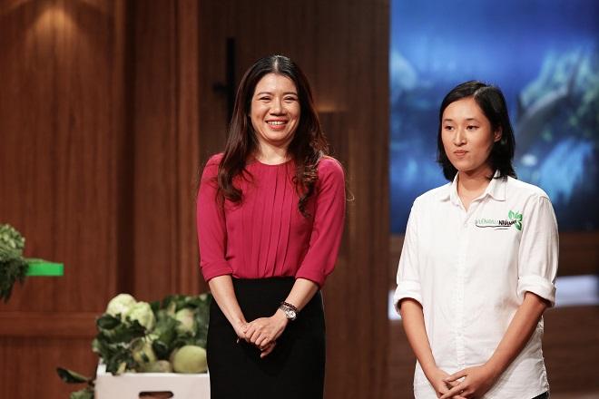 Đinh Thị Thu Hằng và Nguyễn Thị Minh Nguyệt mang đến dự án Vườn rau nhà mình.