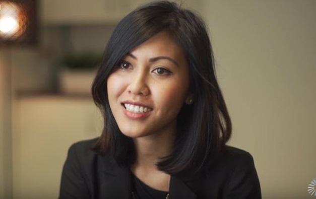 Giám đốc điều hành quỹ Artesian Vicky Lay ấn tượng với chất lượng công nghệ của các startup Việt và mong muôn sớm chốt thương vụ đầu tiên của quỹ này vào khởi nghiệp Việt Nam trong tương lai. Ảnh: Artesian