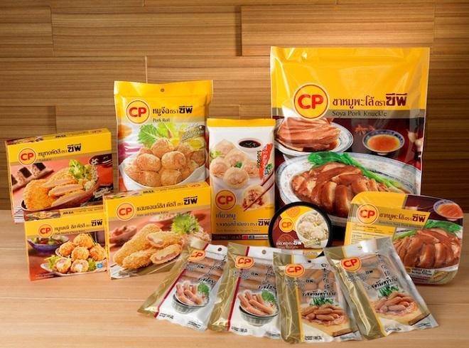 Một số sản phẩm chế biến sẵn của CP Group.