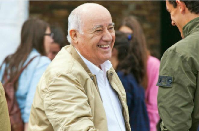 Amancio Ortega - ông chủ Zara. Ảnh: Getty Images.