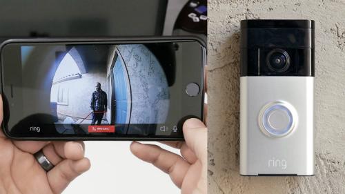 Ring ghi hình người bấm chuông cửa và gửi về smartphone của chủ nhà.