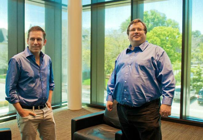 Peter Thiel và Hoffman là đôi bạn thân nổi tiếng, có tầm ảnh hưởng tại thung lũng Silicon. Ảnh: Forbes.