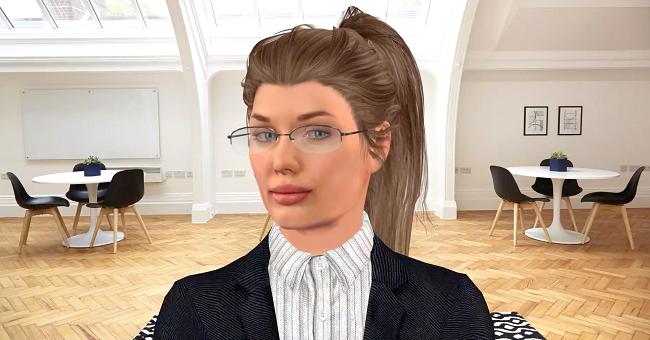 Robot Vera có thể thực hiện hàng trăm cuộc gọi phỏng vấn đồng thời.