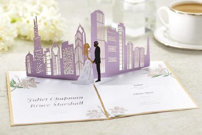 Sản phẩm thiệp cưới 3D của Lovepop.
