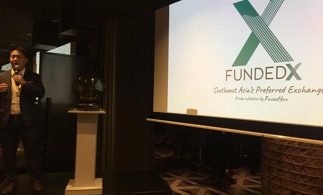 Daniel Lin - đồng sáng lập, CEO FundedHere tại buổi ra mắt sàn chứng khoán FundedX. Ảnh: Twitter