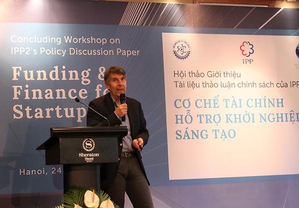 Ông Jouko Ahvenainen - chuyên gia quốc tế về khởi nghiệp sáng tạo. Ảnh: Hà Trương