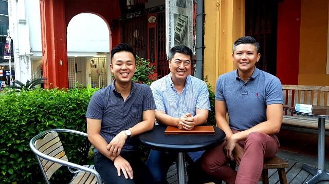 Đội ngũ sáng lập Qiq gồm Dalston Pung, Ben Lim, Justin Sim (từ trái sang).