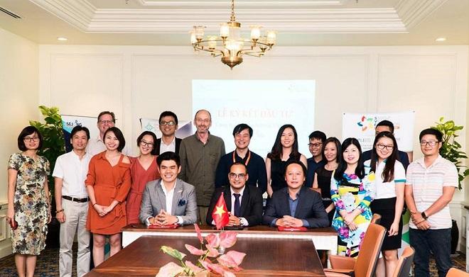 Lễ ký kết đầu tư của Statup (Sejong Vietnam) với nhà đầu tư dưới sự chứng kiến của ICM, SVF và các đối tác chiến lược. Ảnh: ICM