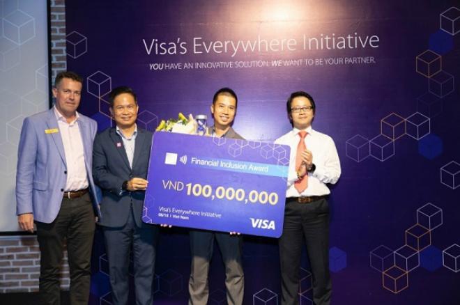 JupViec.vnnhận được giải thưởng phổ cập tài chính toàn diện trong cuộc thi Visas Everywhere Initiative