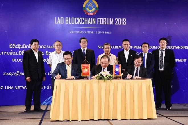 Tháng 6/2018, Lina Network ký kết biên bản hợp tác với Bộ Khoa học và Công nghệ Lào để ứng dụng công nghệ Blockchain vào định danh trong phát triển Chính phủ điện tử.