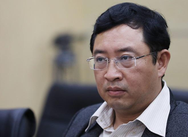 Ông Phạm Hồng Quất - Cục trưởng Cục Phát triển thị trường và doanh nghiệp khoa học và công nghệ chất vấn startup.