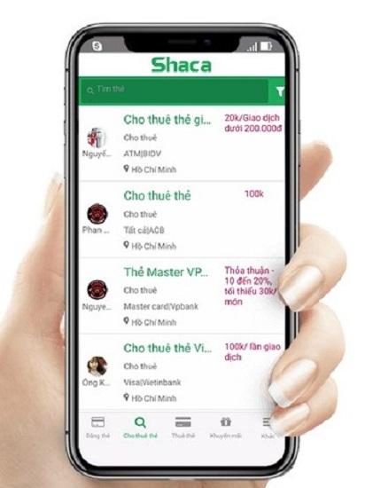 Giao diện dành cho người dùng ứng dụng Shaca. Ảnh: Shaca.
