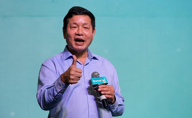 Ông Trương Gia Bình - Chủ tịch HĐQT Tập đoàn FPT, giám khảo Startup Việt 2018 tự tin vào khả năng thành công và vươn ra thế giới của cộng đồng khởi nghiệp Việt Nam. Ảnh: Quỳnh Trần.