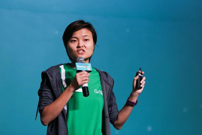 Bà Tan Hooi Ling - đồng sáng lập Grab dành 20 phút truyền cảm hứng cho 500 startup tham dự Chung kết Startup Việt 2018. Ảnh: Hữu Khoa.