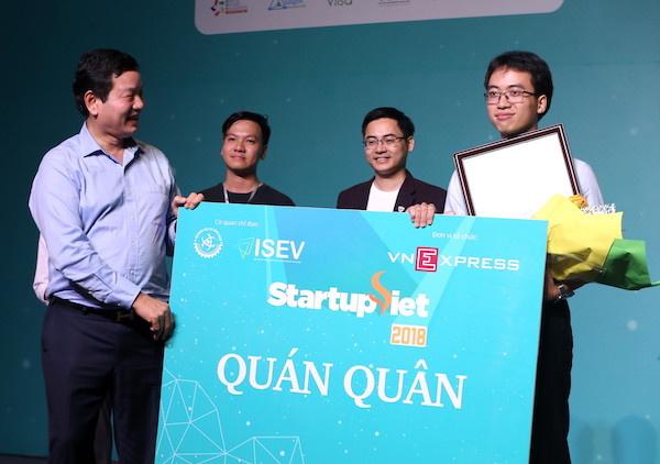 Datamart Vietnam trở thành quán quân Startup Việt 2018.