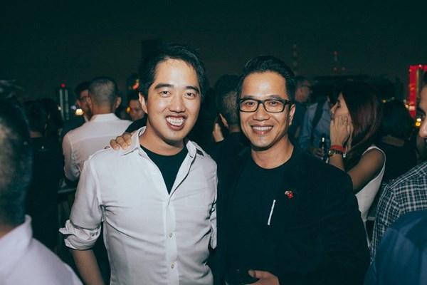 Eddie Thái (trái) và Bình Trần (phải), hai Giám đốc quỹ500 Startups Việt Nam.