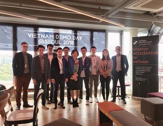 Một sự kiện Demo Day của Vietnam Silicon Valley được tổ chức tại Seoul, Hàn Quốc. Ảnh: VSV