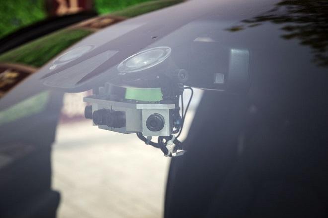 Hệ thống camera cho xe tự lái sản xuất bởi SenseTime.Nguồn: Qilai Shen/Bloomberg