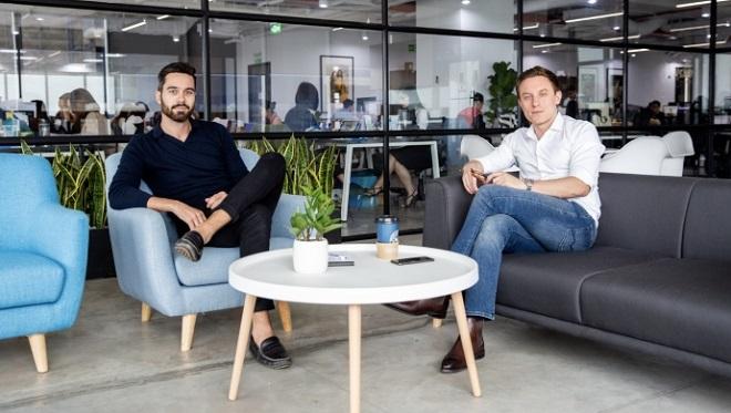 Loic Gautier và đồng sáng lập Pierre-Antoine Brun, hai doanh nhân người Pháp hiện đang sống tại Việt Nam.
