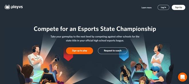 Trang web của PlayVs.