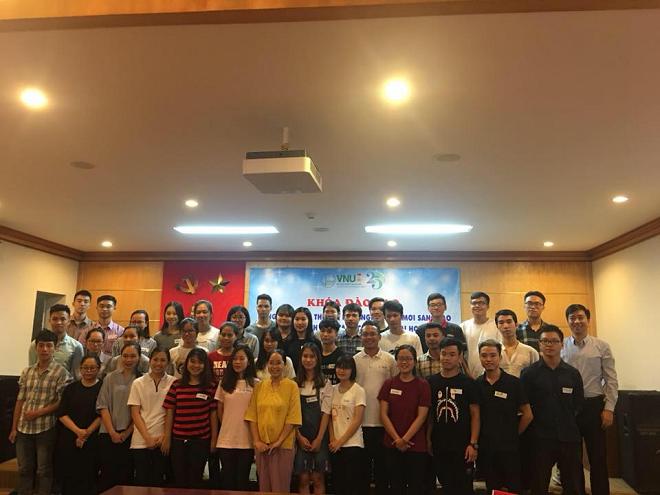 Khóa đào tạo Khởi nghiệp đổi mới sáng tạo cho sinh viên ĐHQG Hà Nội