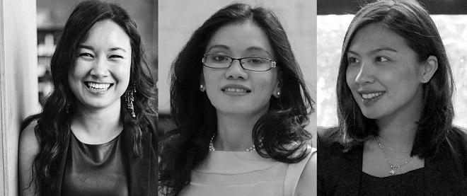 Từ phải qua,Debbie Mullen (Copper Cow Coffee),Vũ Văn (ELSA),Mimi Chan (Littlefund)