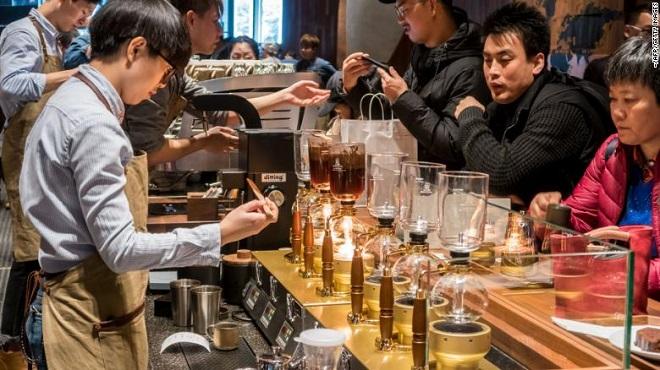 Một cửa hàng Reserve Roastery của Starbuck tại Trung Quốc.