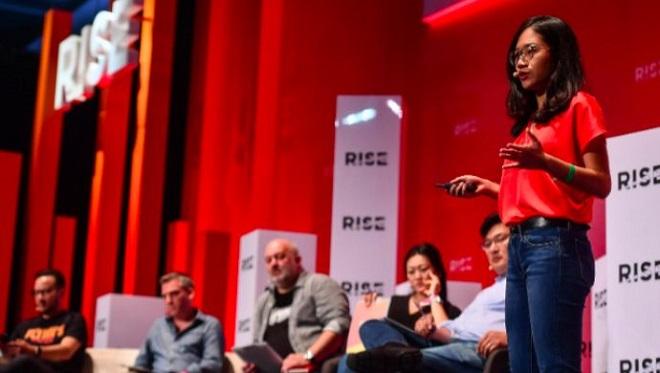 Nhà sáng lập và CEO Linh Pham tại Hội nghị công nghệ châu Á Hong Kongs RISE 2018