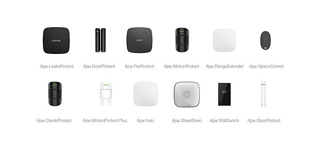 Các thiết bị an ninh của Ajax có thiết kế nhỏ gọn, phù hợp với không gian nội thất hiện đại.