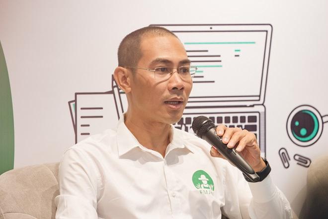 Ông Đỗ Trần Anh - Nhà sáng lập kiêm CEO Farmtech cho biết startup đã dành nhiều thời gian, công sức để tiếp xúc trực tiếp nông dân, tìm ra mô hình sản phẩm phù hợp sau nhiều lần thử và sai. Ảnh: Viettonkin.