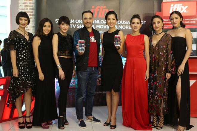 Chủ tịch Iflix, Patrick Grove tại một sự kiện quảng cáo ở Bangkok, Thái Lan