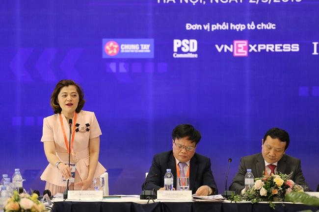 Bà Trương Lý Hoàng Phi, Tổng Giám đốc VinTech City - Tập đoàn Vingroup.