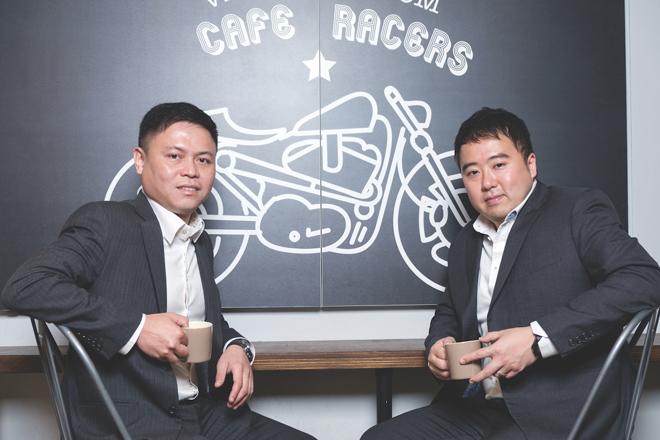 Hai nhà sáng lập Frank Phuan và Lawrence Wu của Sunseap