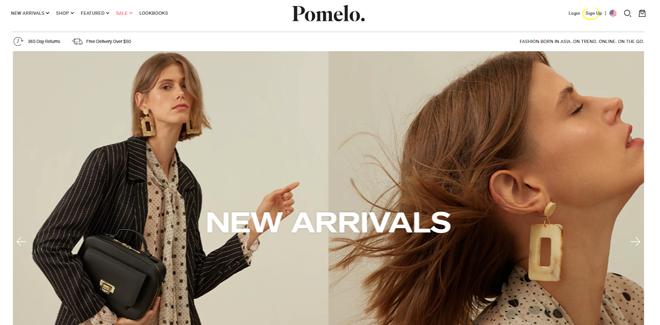 Trang web thương mại điện tử Pomelo