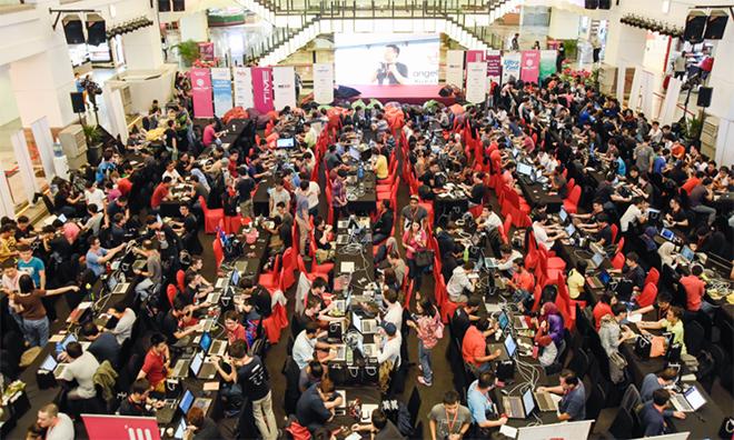 Hackathon Angel 2018 thu hút nhiều đội thi. Ảnh: Vulcanpost