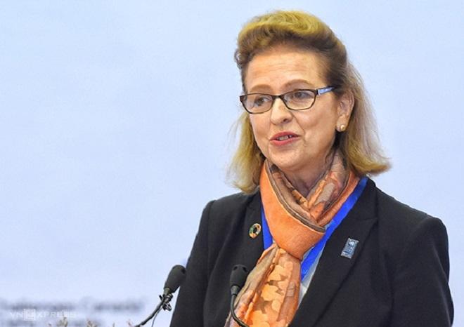 bà Caitlin Wiesen - Giám đốc chương trình Phát triển Liên hợp quốc UNDP tại Việt Nam