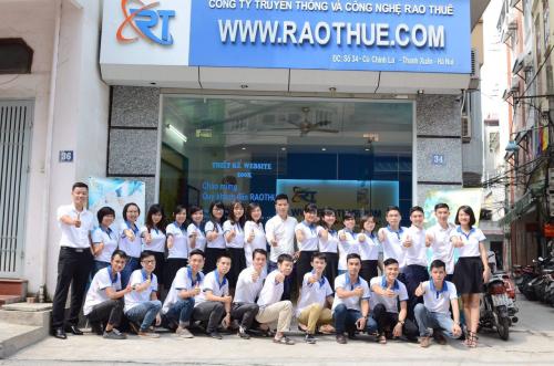 Đội ngũ nhân viên Công ty Cổ phần Truyền thông và Công nghệ Raothue.