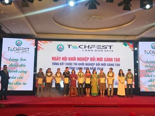 Đại diện các startup tham gia Chung kết Cuộc thi khởi nghiệp đổi mới sáng tạo tỉnh Lạng Sơn.
