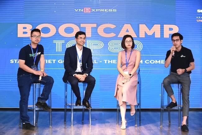 Từ trái qua ông Hoàng Minh Đức (ThinkZone), ông Lê Văn Thành (Dell Technogogies), bà Hà Phương Anh (Open Commerce Group), ông Nguyễn Văn Nhật (Minet).