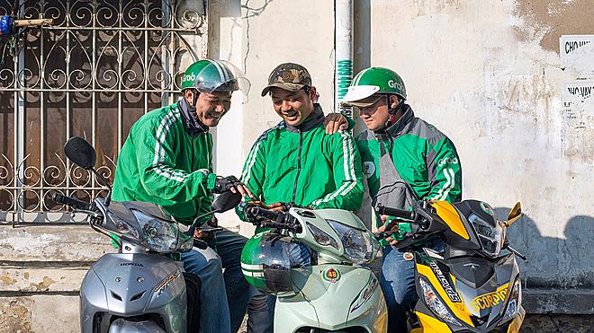 GrabBike - sản phẩm xe ôm công nghệ mang đến thành công cho Grab tại thị trường Việt Nam và Indonesia.