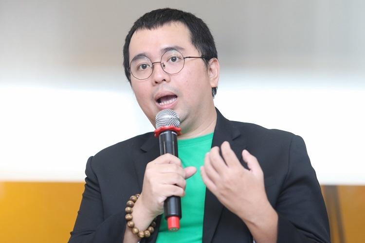 Ông Nguyễn Tuấn Anh - Giám đốc Grap Financial Group Việt Nam chia sẻ về chiến lược Go Global tại bootcamp do Startup Việt 2019 tổ chức ở TP HCM hôm 28-29/9. Ảnh: Thành Nguyễn.