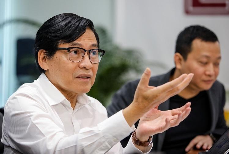 Ông Phạm Phú Ngọc Trai trong một sự kiện về startup.