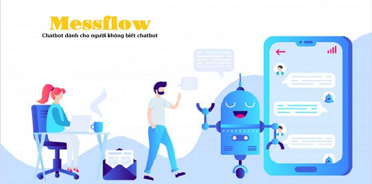 Chatbot của Messflow giúp các nhà bán hàng trên các nền tảng ứng dụng khác nhau có thể tương tác, chăm sóc khách hàng tự động dựa trên trí tuệ nhân tạo AI. Ảnh: Messflow.