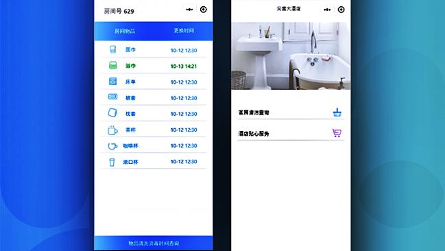 Giao diện theo dõi các trang thiết bị trong phòng khách sạn nhờ vào vi chip của Suqu Net.