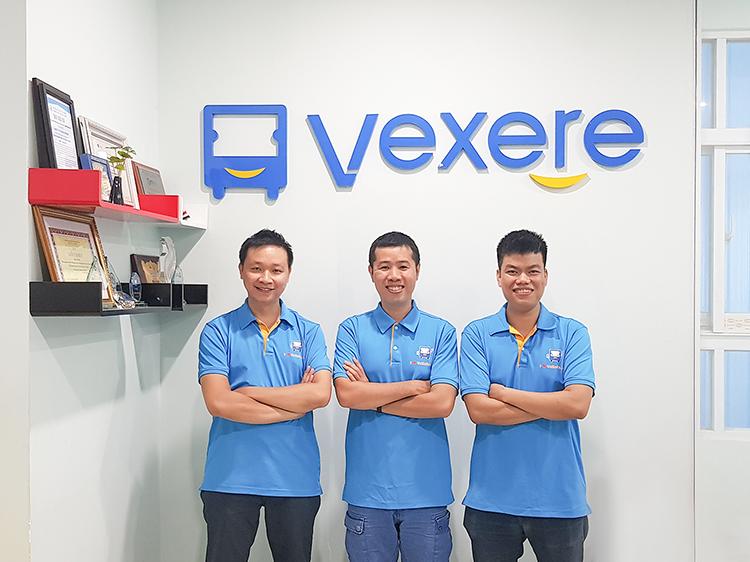 Ba nhà sáng lập của Vexere.