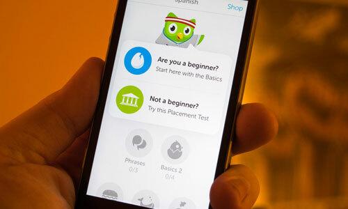 Giao diện sử dụng của Duolingo